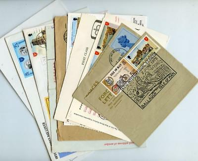 12 Pieces of QEII  Decimal Postal History with Isle of Man interest.
