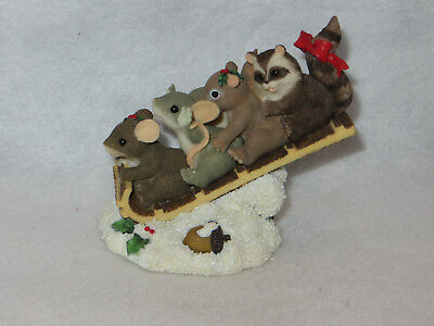 """""""sharing The Ride"""" Charming Tails - Fitz Floyd - 97/34 - Mint"""