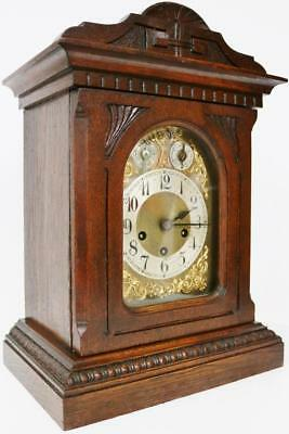 Fine Antique Jungans Mahogany Musical Bracket Clock 8Day Westminster Chime Clock