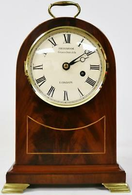 English Mahogany Fusee Mantel Clock  Inlaid 8 Day Bracket Clock By C Frodsham