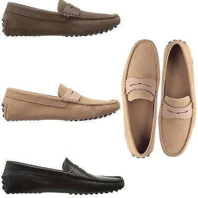 17573e9e34dfa Lacoste Men s NEW Concours Leather Penny Slot Loafers Slip On Comfort Shoes