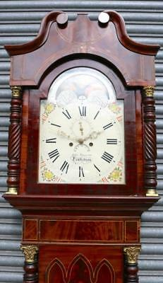 Antique 8Day Longcase Clock Moon Roller Grandfather Clock By Spurrier Tewkesbury