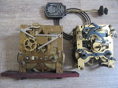 Two Striking Clock Movements For Spares Or Repair