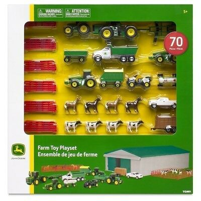 John Deere Farm Toy Playset 70 Piece Box JOHN DEERE TRACTOR TOY SET NEW IN BOX