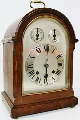 Antique German Mahogany Musical Westminster Chime Striking Mantel Bracket Clock
