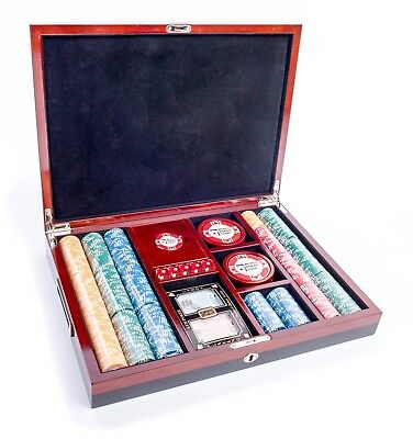 AUTHENTIC APPAREL WPT - World Poker Tour 500 Chip Poker Chip Set with Dice, K...