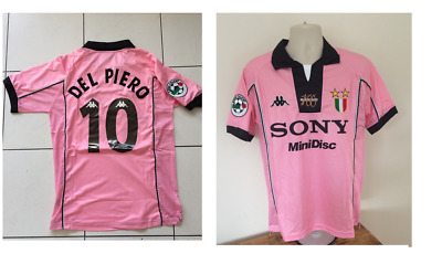 Del Piero Juventus Pink Centenary Season Shirt Juve 1997 1998 Xl Superb Con