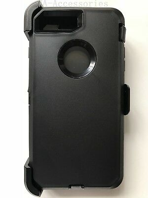 For iPhone 7 Plus & iPhone 8 Plus Case (Belt Clip fits Otterbox Defender) Black