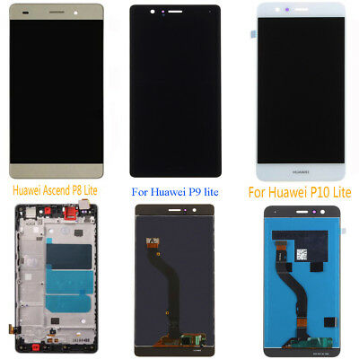 For Huawei P8 / P9 / P10 Lite Super LCD Display Touch Screen Assembly Rahmen &&