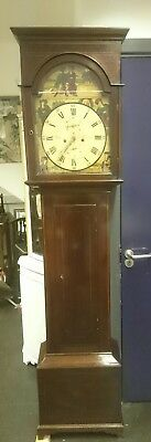 Scottish 8 Day Mahogany Longcase  Clock Laird , Delftfield Lane,Glasgow