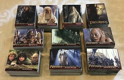 Lot Of 2200+ Topps The Lord Of The Rings Trading Cards