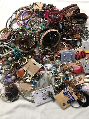 Junk Drawer Jewelry Lot Necklaces Bracelets Pins Earrings And More Vintage