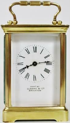 Classical French Carriage Clock Lever Platform Balance C1880 French Mantel Clock