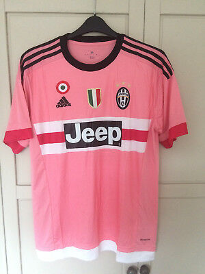 PINK JUVENTUS Away Football Shirt 2015 2016 Pink ITALY SHORT SLEEVE ITALY MEDIUM