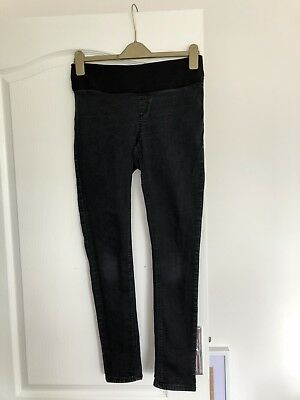 TOPSHOP Joni Skinny MATERNITY jeans - size UK 10 L32 - Washed black