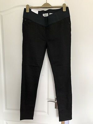 Brand New NEW LOOK Maternity Jeans - Black Skinny Jeggings - Emilee - UK10 L34