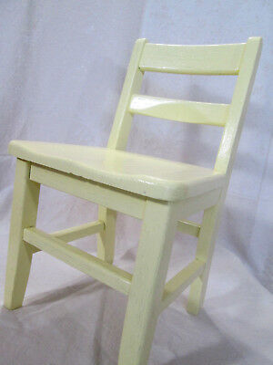 Child's Wooden Chair Solid Oak Wood Sunshine Yellow Hand Painted Antique Upcycle