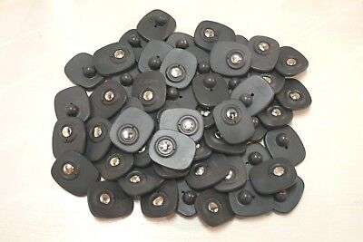 Euc - 100 Checkpoint Security Anti-Theft Tags - Black With Pins