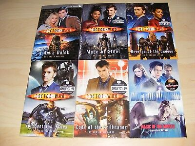 DOCTOR WHO 6x Quick Reads paperback books Nos 1 2 3 4 5 & 6 -10th 11th Dr unread