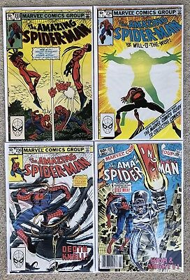 Amazing Spiderman: Comic Book Lot Of 4 Issues. #'s233,234,236,237, Cond: Fine