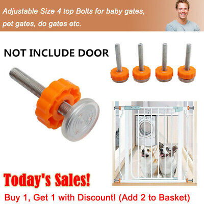Baby Safety Stairs Gate Screws&Bolts + Locking Nut Spare Part Accessories Kit