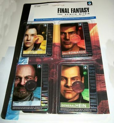 Final Fantasy Spirits Within Computer CD Trading Cards MIP Photo Soundtrack MORE