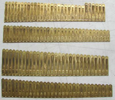 122 Brass Reeds Western Pump Organ Antique Used Parts Crafts Upcycle Repurpose