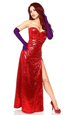 43640056fa5 DAISY CORSET TOP Drawer Sexy JESSICA RABBIT Costume Plus Size Available