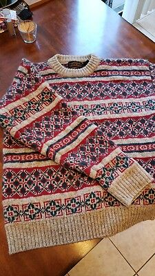Eddie Bauer Thick Wool Sweater Size Large