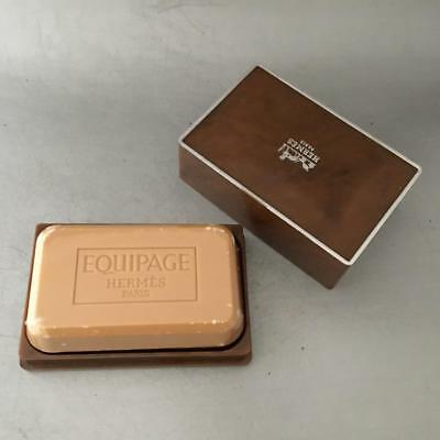 VTG MADE in FRANCE HERMES EQUIPAGE TRAVEL VANITY SOAP w BOX SEALED 5oz PARIS