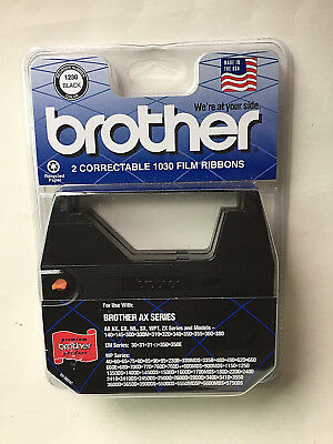 Brother Correctable 1030 BLACK Film Ribbons, 2 Ribbons, For AX Series, Part#1230