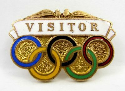Vintage 1956 Melbourne Olympics Visitor Pin Badge made by K.G. Luke of Melbourne