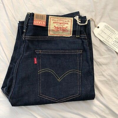 LEVIS VINTAGE CLOTHING 1950s 701 JEANS RIGID Womens USA Sz 28/34 and 29/32 RARE
