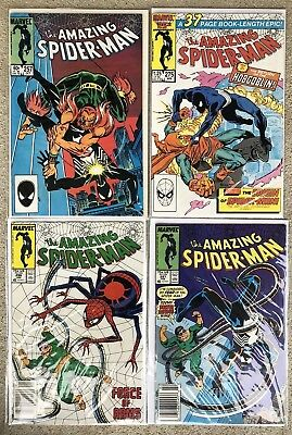 Amazing Spiderman: Copper Age Comic Book Lot Of 2, #296,297 Newsstand Issues