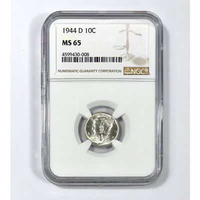 1944 D Mercury Dime NGC MS65 *Rev Tye's* #000814