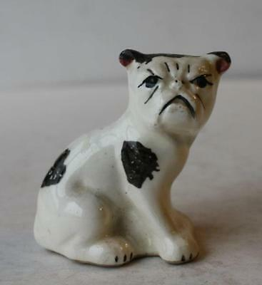 Bulldog-Boxer Figurine Made in USA Ceramic-Porcelain Grouchy-Mad Figurine-CUTE
