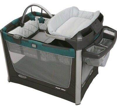 Graco Pack 'N Play Playard Smart Stations Playard with Changer Sapphire