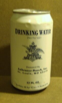 ANHEUSER BUSCH Drinking Water CAN Empty 2001 War Time Display Prop Aluminum