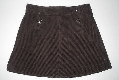 Girls Janie And Jack Autumn Classics Brown Corduroy Skirt Size 18-24 Months