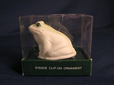 Dept. 56 Bisque Clip-On Ornament, Frog, #83470, combine shipping
