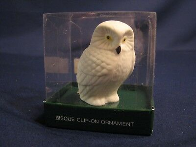 Dept. 56 Bisque Clip-On Ornament, OWL, #83445, combine shipping