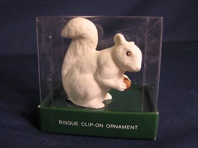 Dept. 56 Bisque Clip-On Ornament, Squirrel, #83488, combine shipping