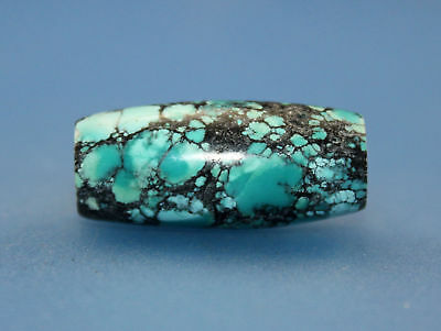 29*13 mm Antique Undressed dzi turquoise old Bead from Tibet **Free shipping**