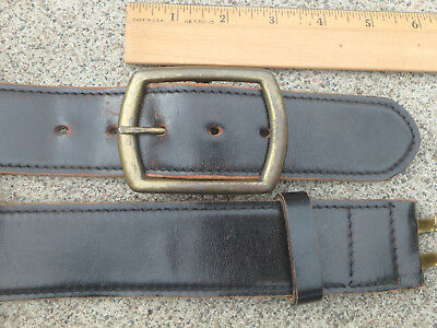 Vintage Belt Shell Cordovan Genuine Horsehide black leather size 42""