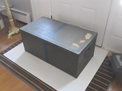 vintage military shipping trunk