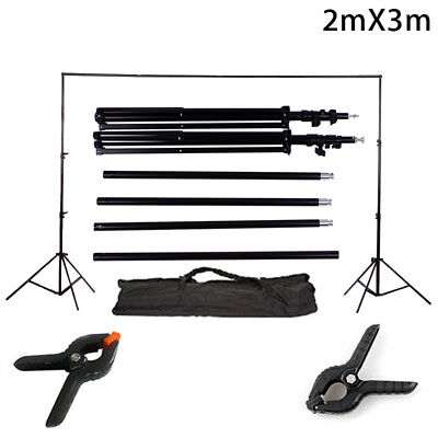 10 Ft Adjustable Backdrop Support Stand Photo Photography Background Crossbar