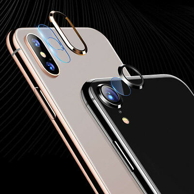 New Camera Lens Ring Tempered Glass Screen Protector Film For IphoneX XS Max XR