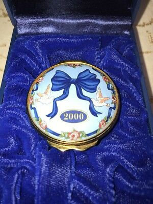 Halcyon Days English Enamels Year 2000 Bailey Banks and Biddle Trinket Ring Box