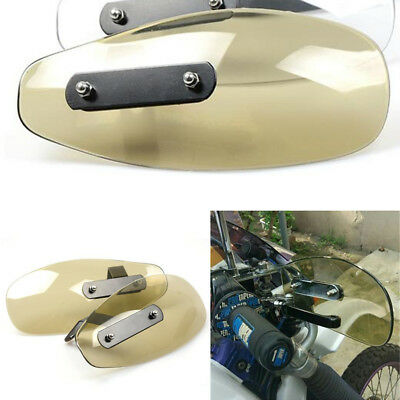 Transparent Motorcycle Hand Guards Wind Shield Deflector Custom Bike Accessories