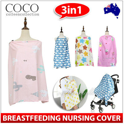 3 in 1 Baby Breastfeeding Nursing Cover Scarf  Maternity Generous Blanket Cover
